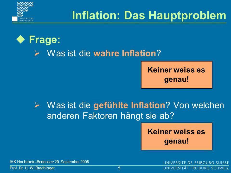 Inflation: Das Hauptproblem
