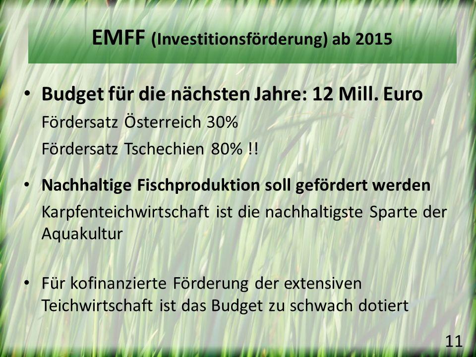 EMFF (Investitionsförderung) ab 2015