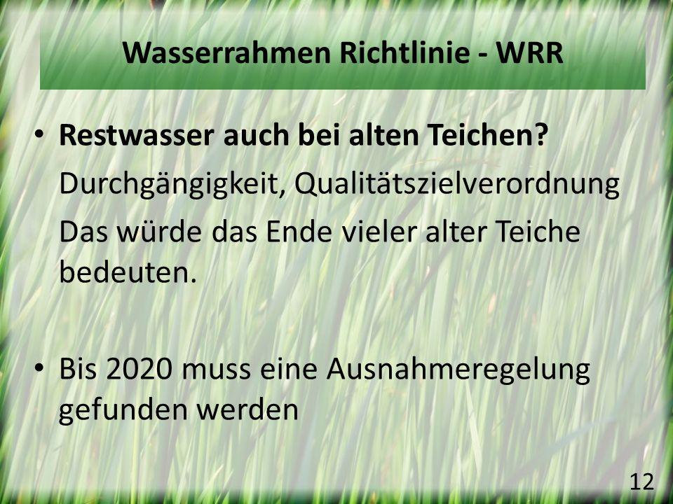 Wasserrahmen Richtlinie - WRR