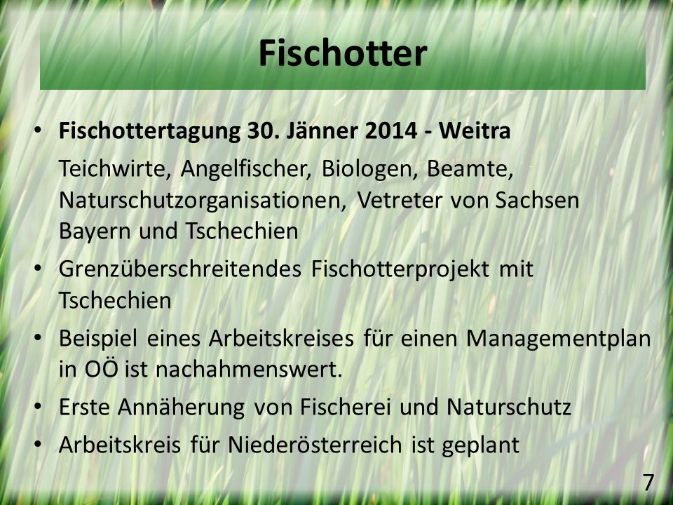 Fischotter Fischottertagung 30. Jänner 2014 - Weitra
