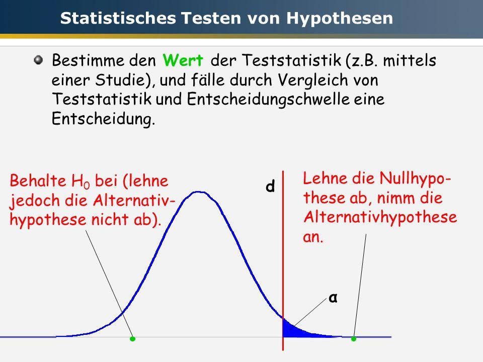 Statistisches Testen von Hypothesen