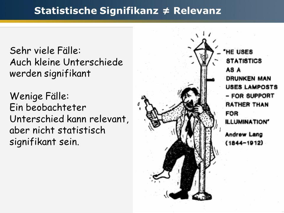 Statistische Signifikanz ≠ Relevanz