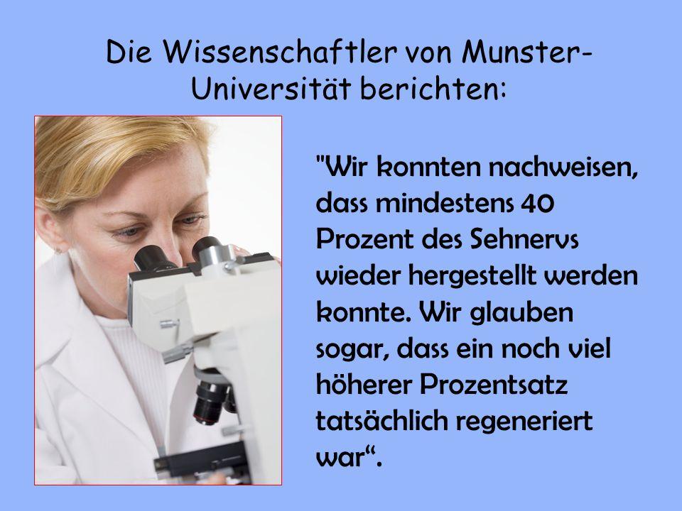 Die Wissenschaftler von Munster-Universität berichten: