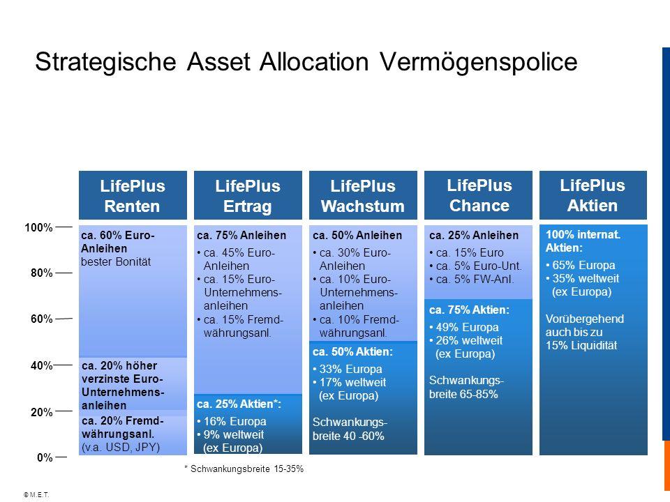 Strategische Asset Allocation Vermögenspolice