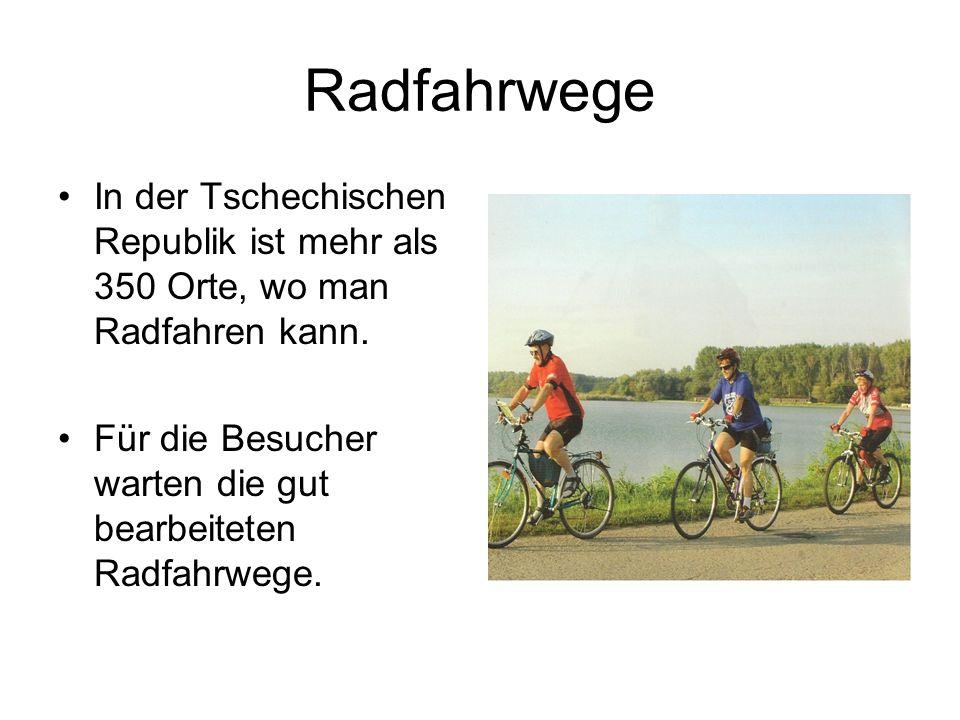 Radfahrwege In der Tschechischen Republik ist mehr als 350 Orte, wo man Radfahren kann.
