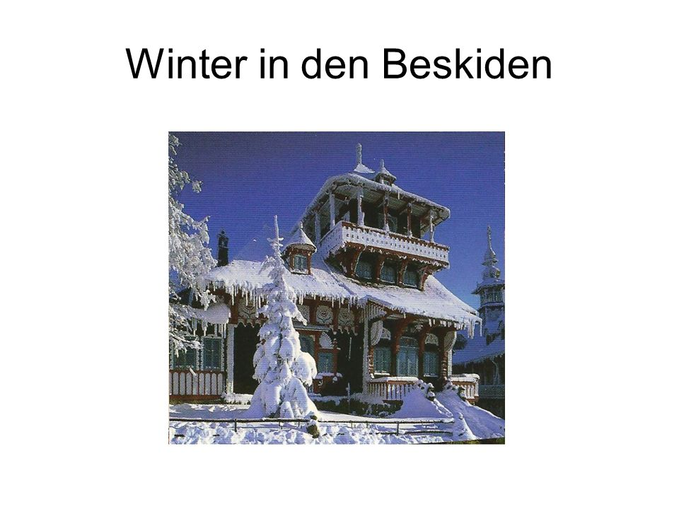 Winter in den Beskiden