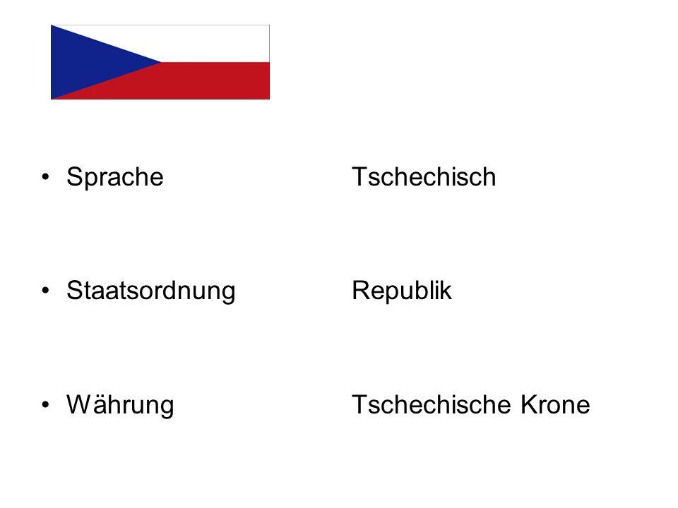 Sprache Staatsordnung Währung Tschechisch Republik Tschechische Krone