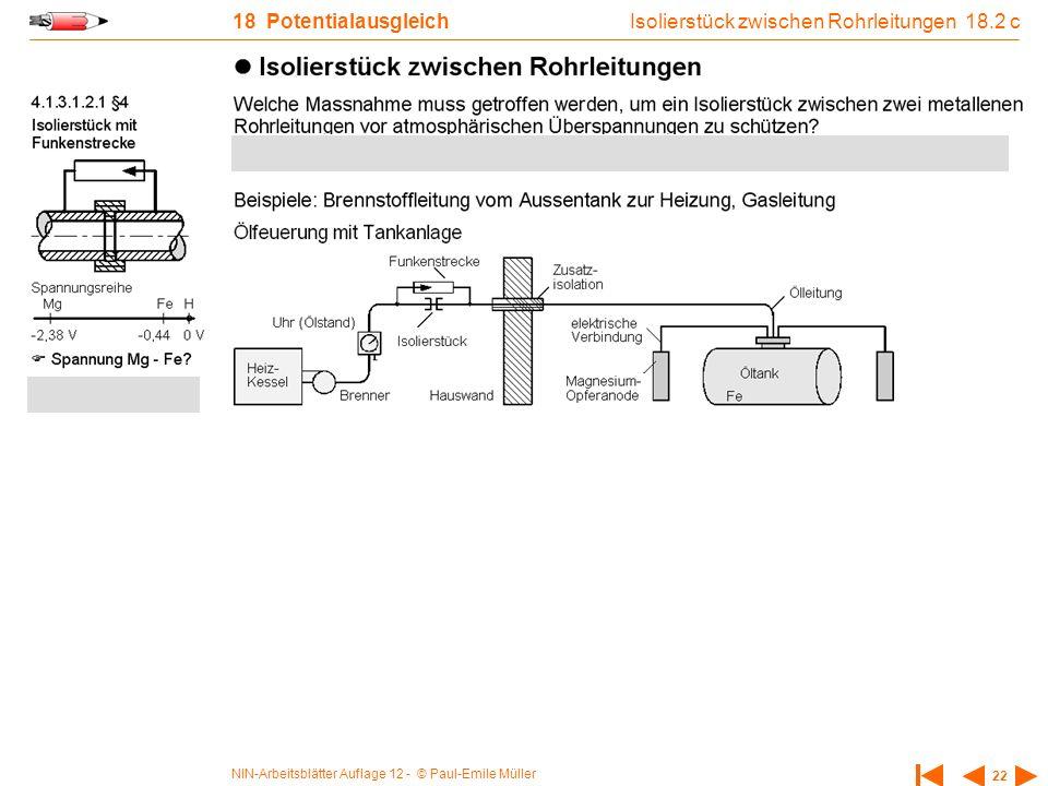 Isolierstück zwischen Rohrleitungen 18.2 c