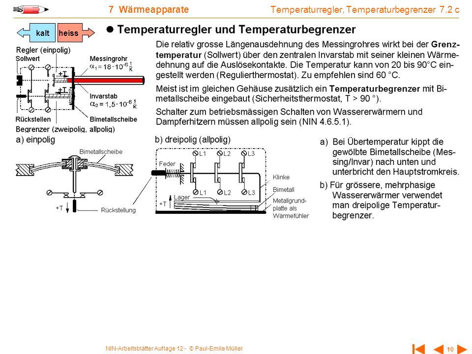 Temperaturregler, Temperaturbegrenzer 7.2 c