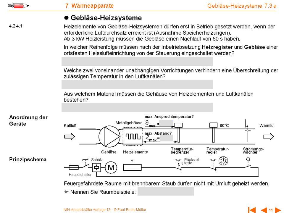 Gebläse-Heizsysteme 7.3 a