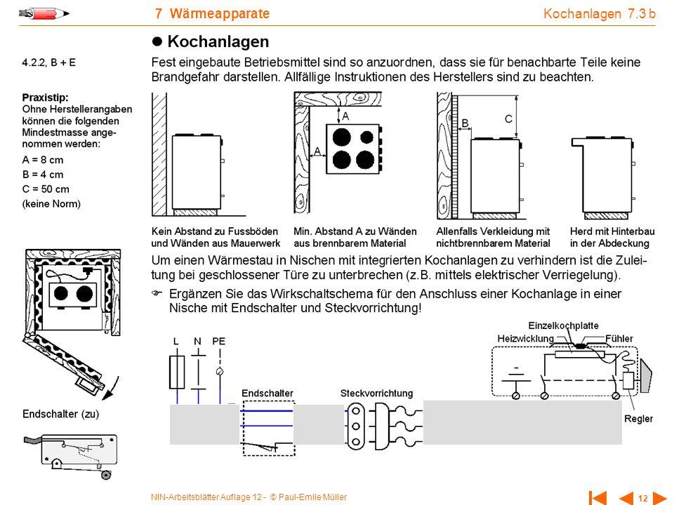 Kochanlagen 7.3 b 7 Wärmeapparate