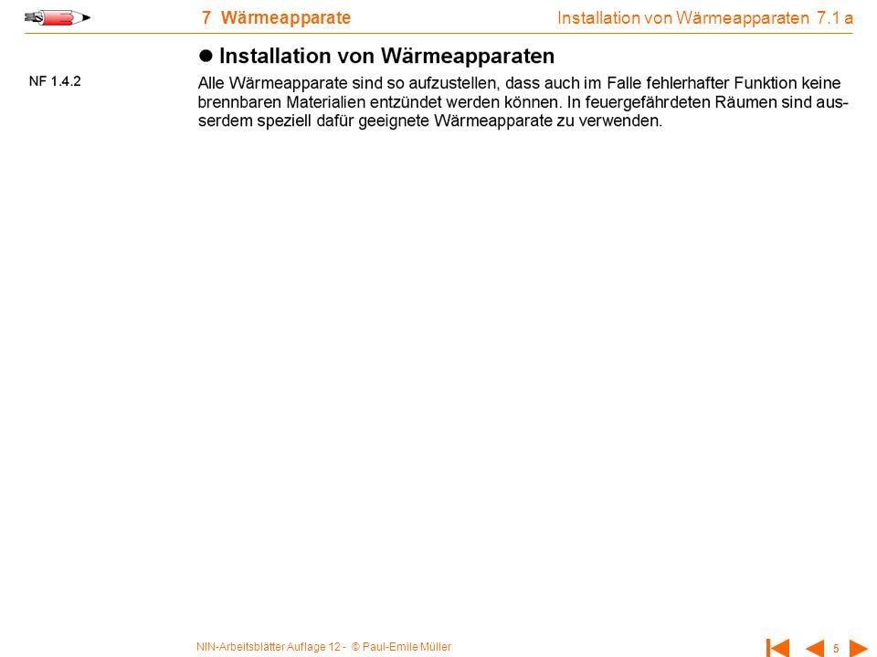 Installation von Wärmeapparaten 7.1 a
