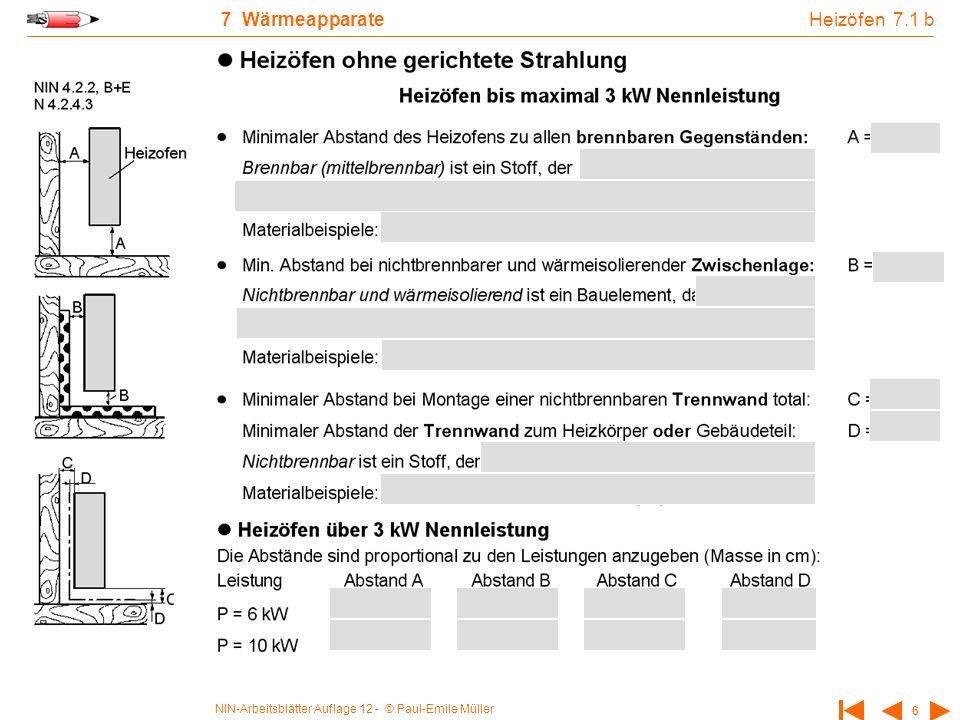 Heizöfen 7.1 b 7 Wärmeapparate