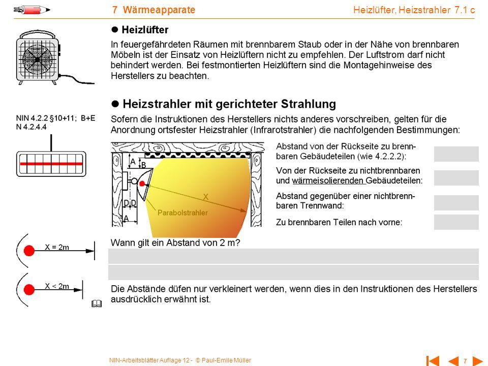Heizlüfter, Heizstrahler 7.1 c