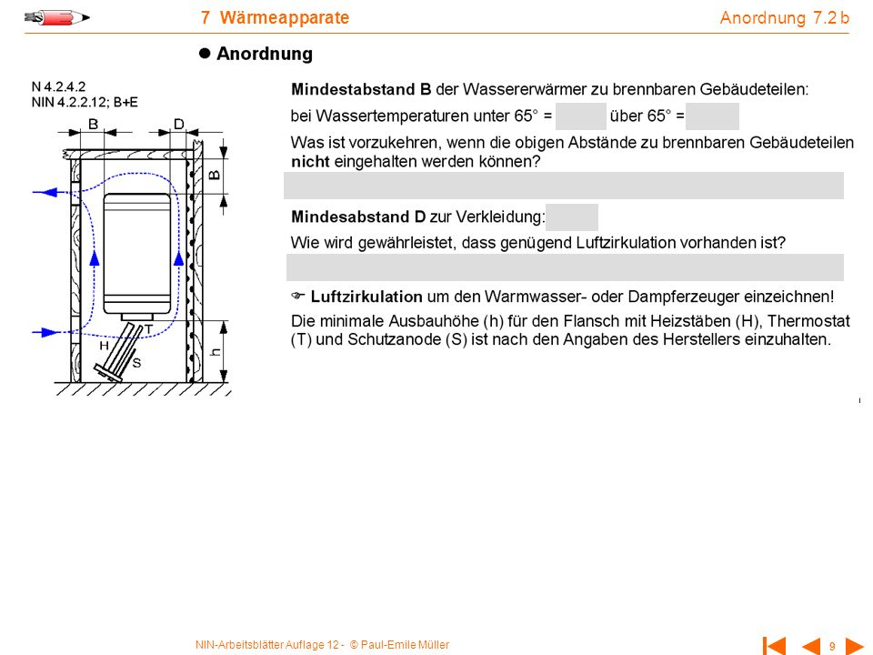 Anordnung 7.2 b 7 Wärmeapparate