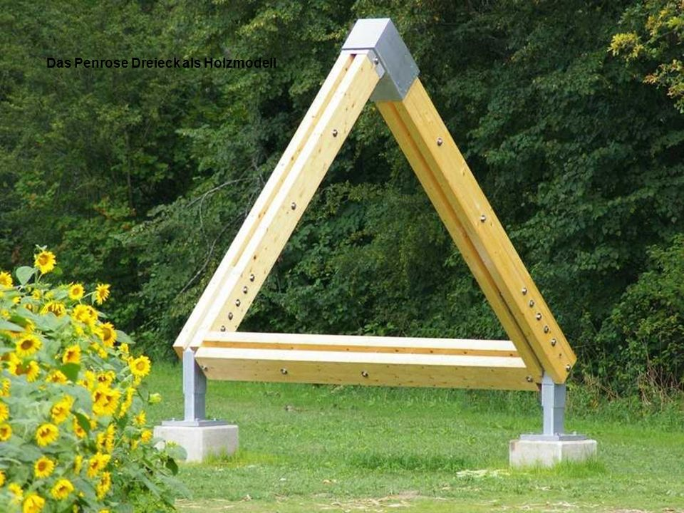 Das Penrose Dreieck als Holzmodell