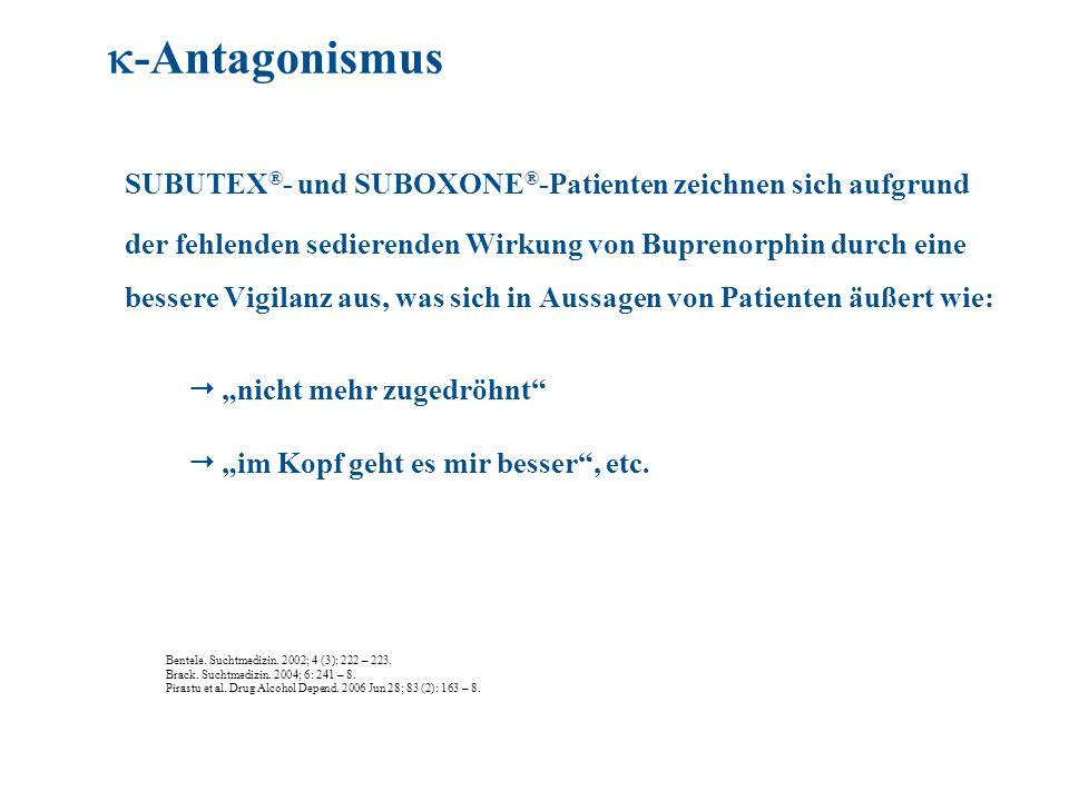 -Antagonismus SUBUTEX®- und SUBOXONE®-Patienten zeichnen sich aufgrund.