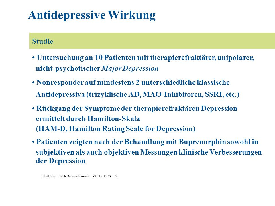 Antidepressive Wirkung