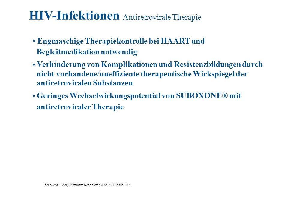 HIV-Infektionen Antiretrovirale Therapie