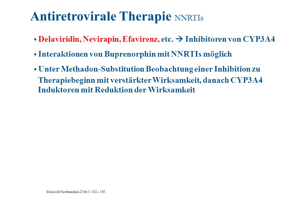 Antiretrovirale Therapie NNRTIs