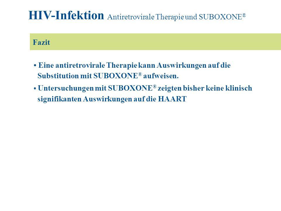 HIV-Infektion Antiretrovirale Therapie und SUBOXONE®