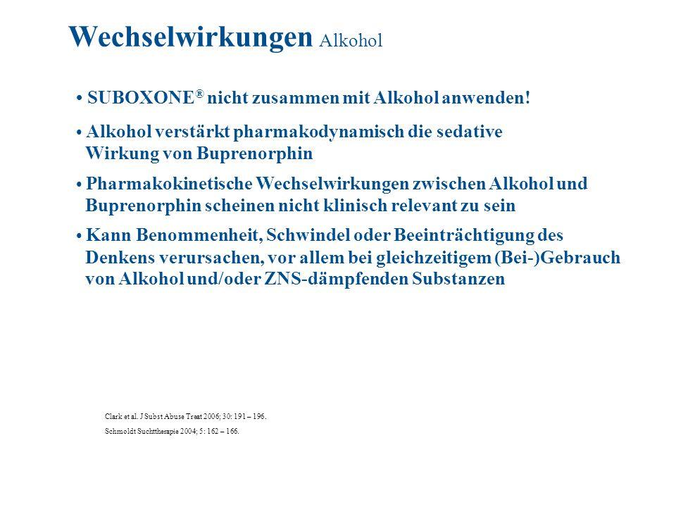 Wechselwirkungen Alkohol