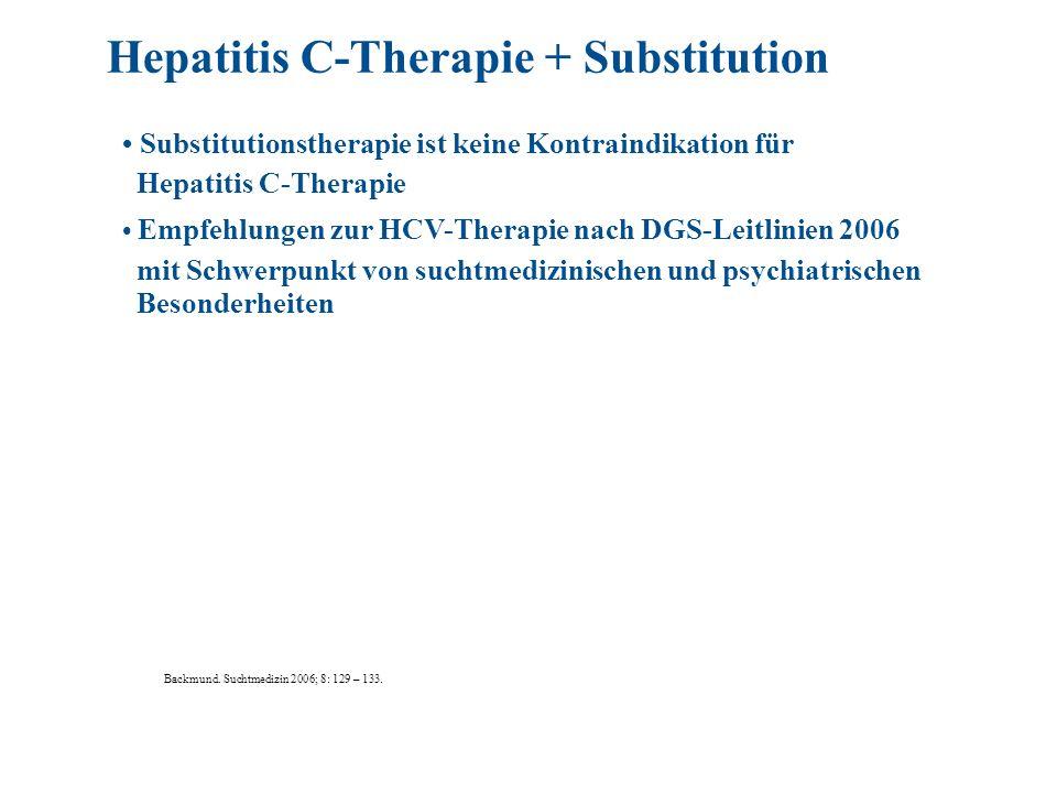 Hepatitis C-Therapie + Substitution