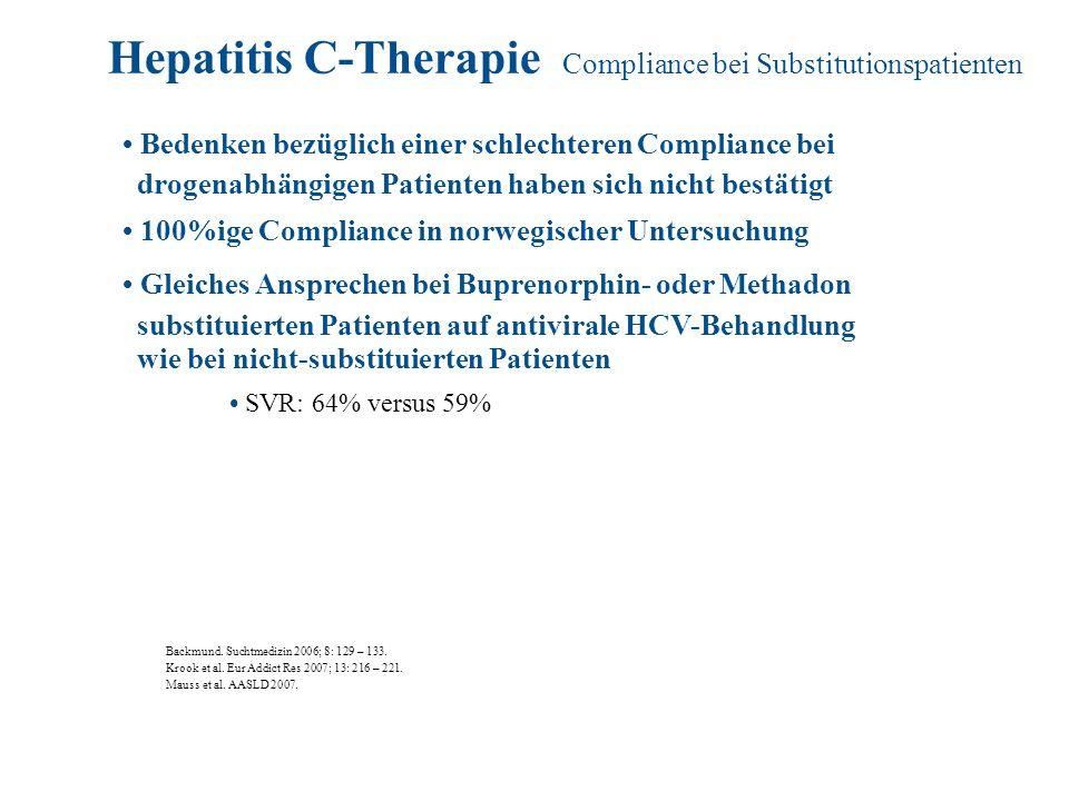 Hepatitis C-Therapie Compliance bei Substitutionspatienten