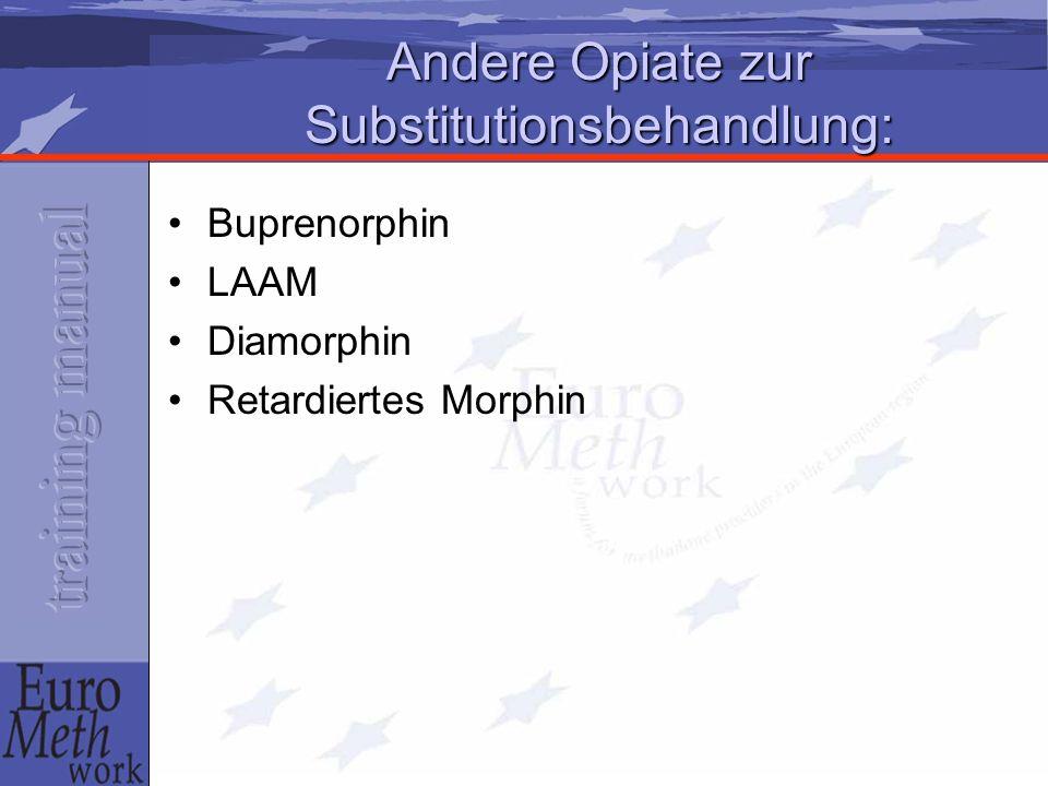 Andere Opiate zur Substitutionsbehandlung: