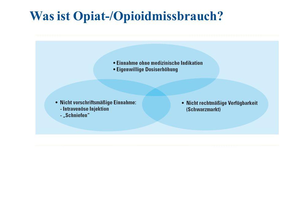 Was ist Opiat-/Opioidmissbrauch