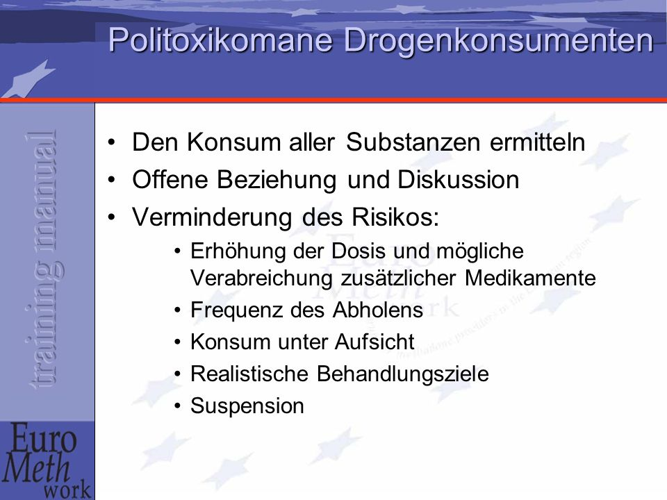 Politoxikomane Drogenkonsumenten