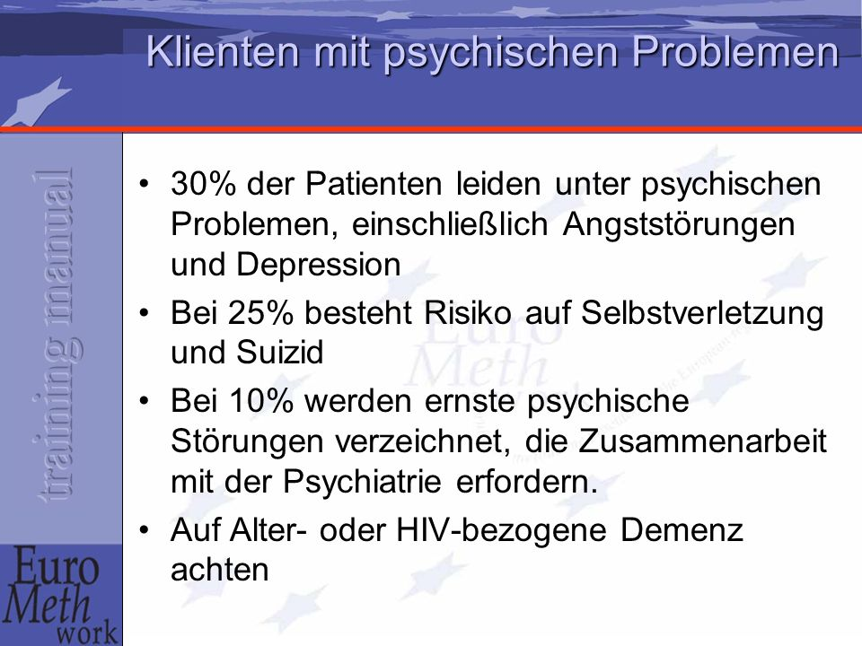 Klienten mit psychischen Problemen
