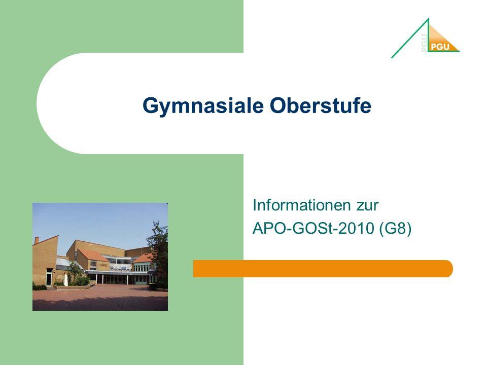 Informationen zur APO-GOSt-2010 (G8)