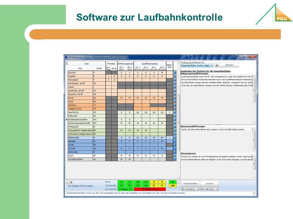 Software zur Laufbahnkontrolle