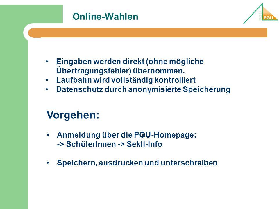 Vorgehen: Online-Wahlen
