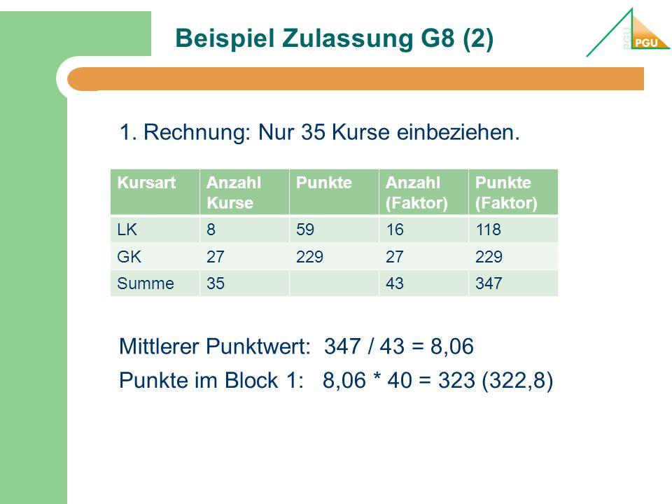 Beispiel Zulassung G8 (2)