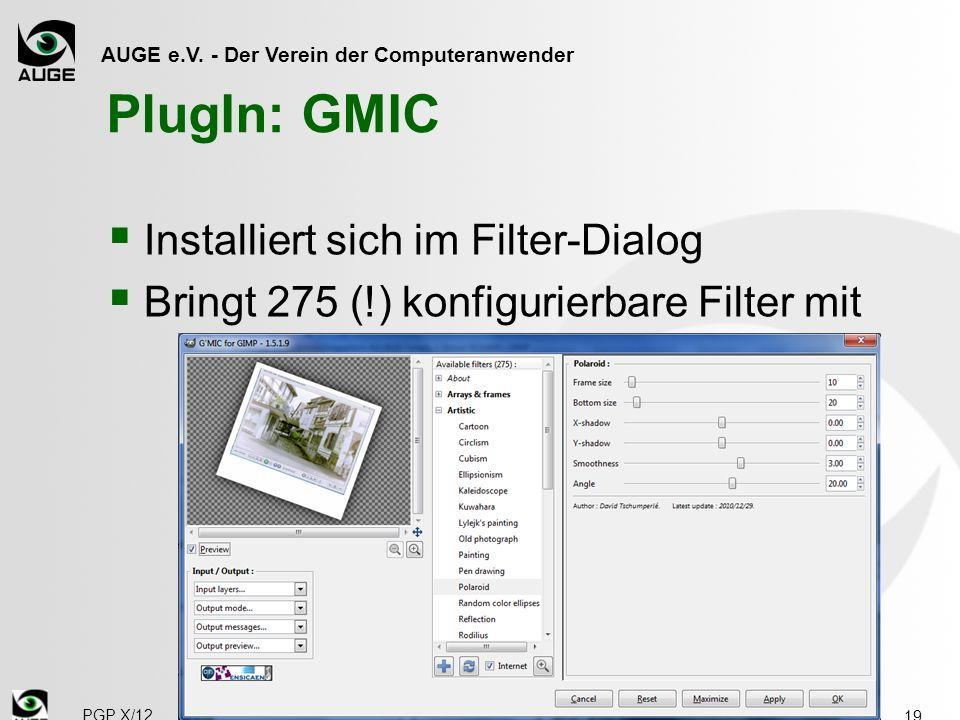 PlugIn: GMIC Installiert sich im Filter-Dialog
