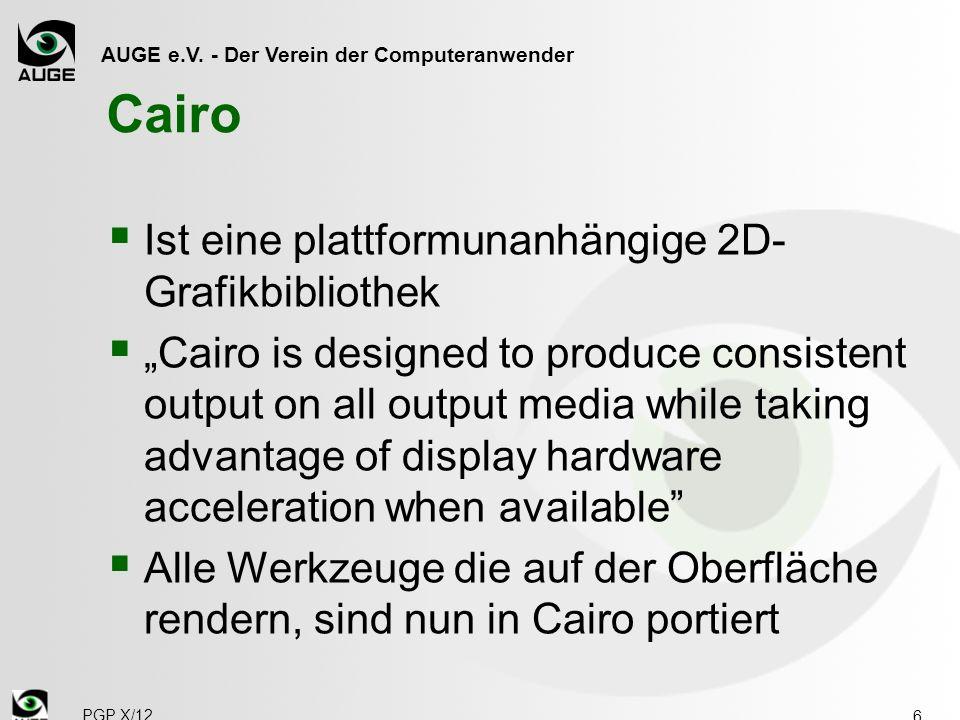 Cairo Ist eine plattformunanhängige 2D-Grafikbibliothek