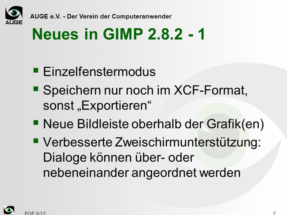 Neues in GIMP 2.8.2 - 1 Einzelfenstermodus