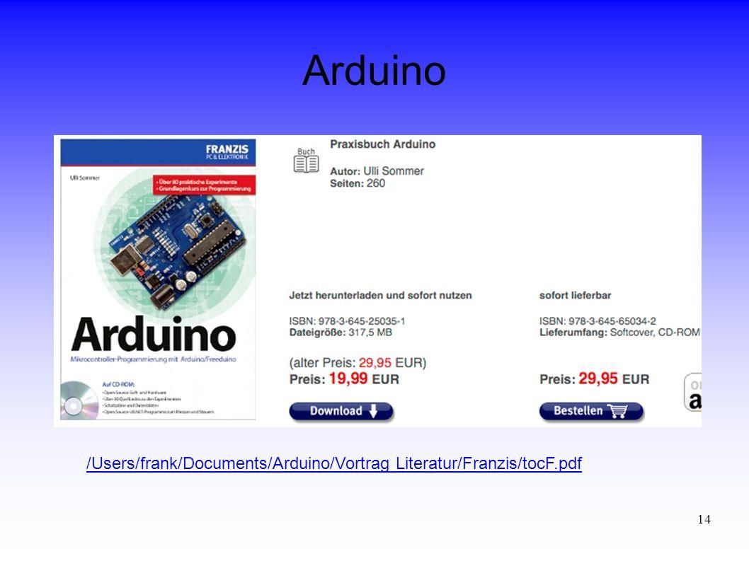 Arduino /Users/frank/Documents/Arduino/Vortrag Literatur/Franzis/tocF.pdf