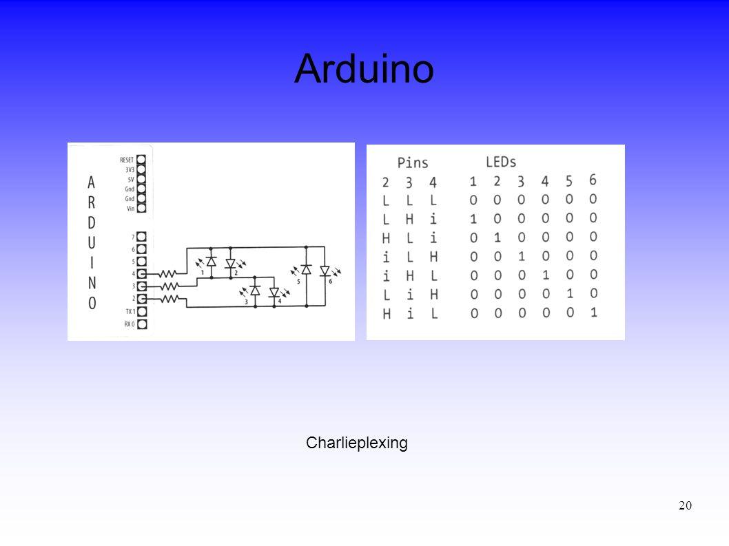 Arduino Charlieplexing