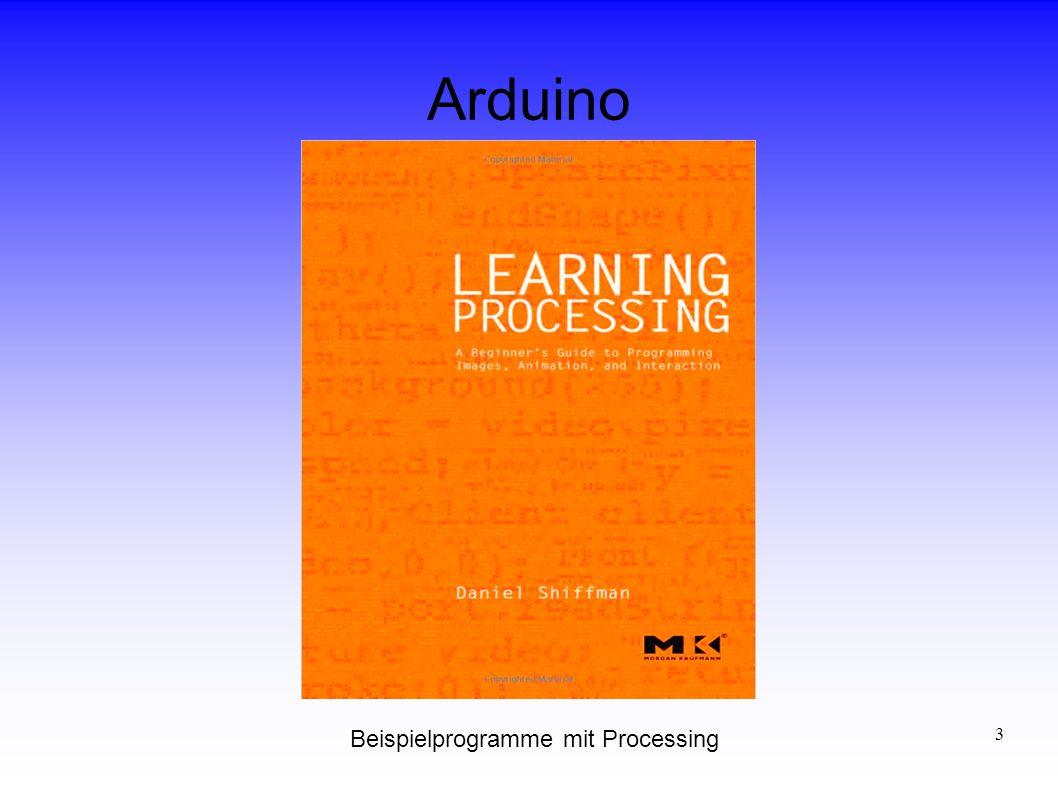 Arduino Beispielprogramme mit Processing