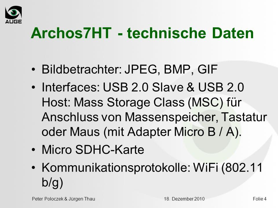 Archos7HT - technische Daten