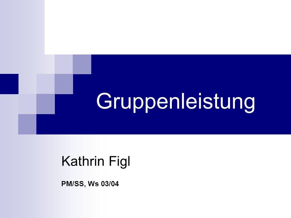 Gruppenleistung Kathrin Figl PM/SS, Ws 03/04