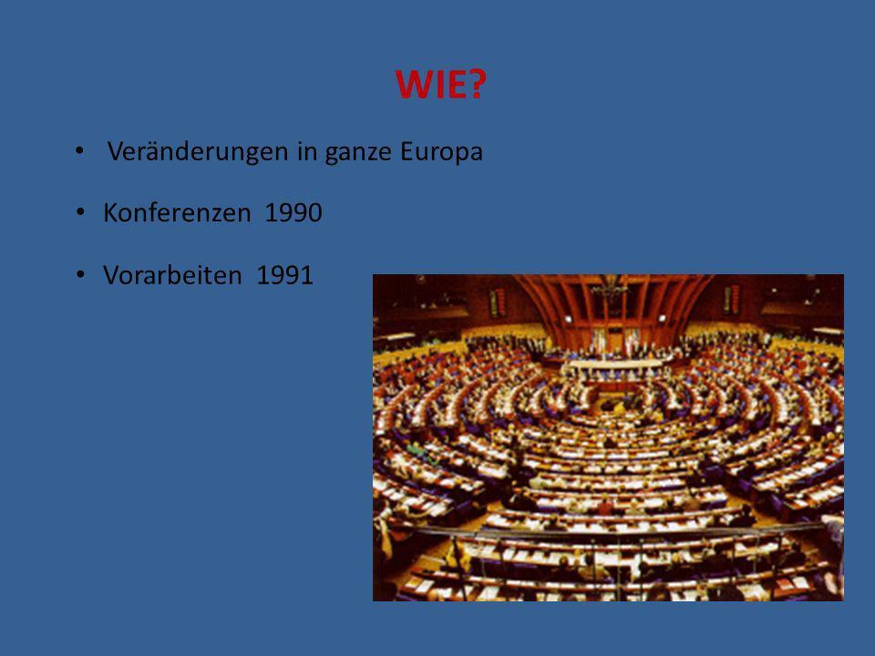 WIE Veränderungen in ganze Europa Konferenzen 1990 Vorarbeiten 1991