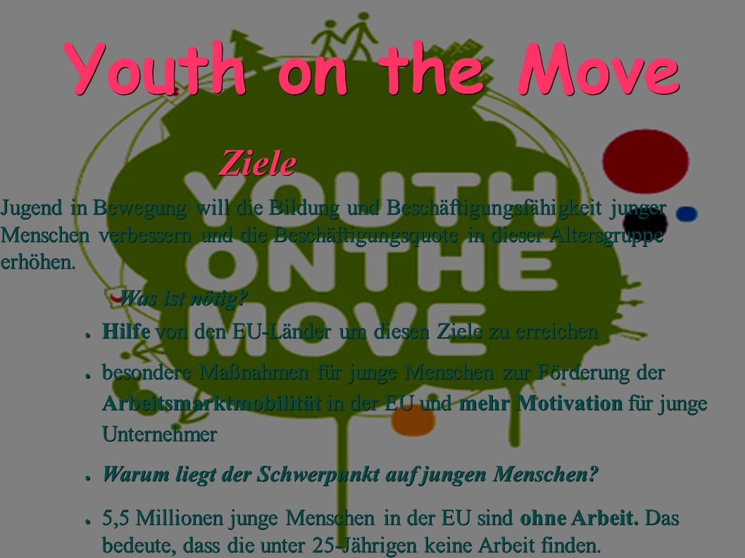 Youth on the Move Ziele.