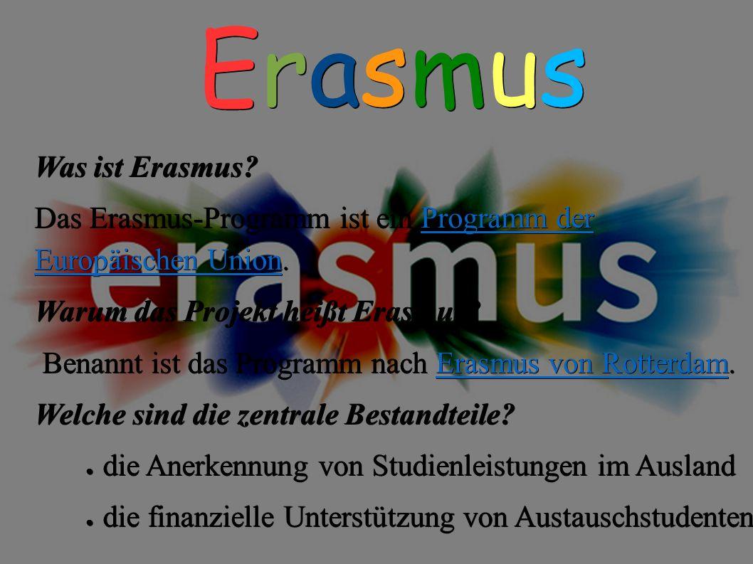 Erasmus Was ist Erasmus