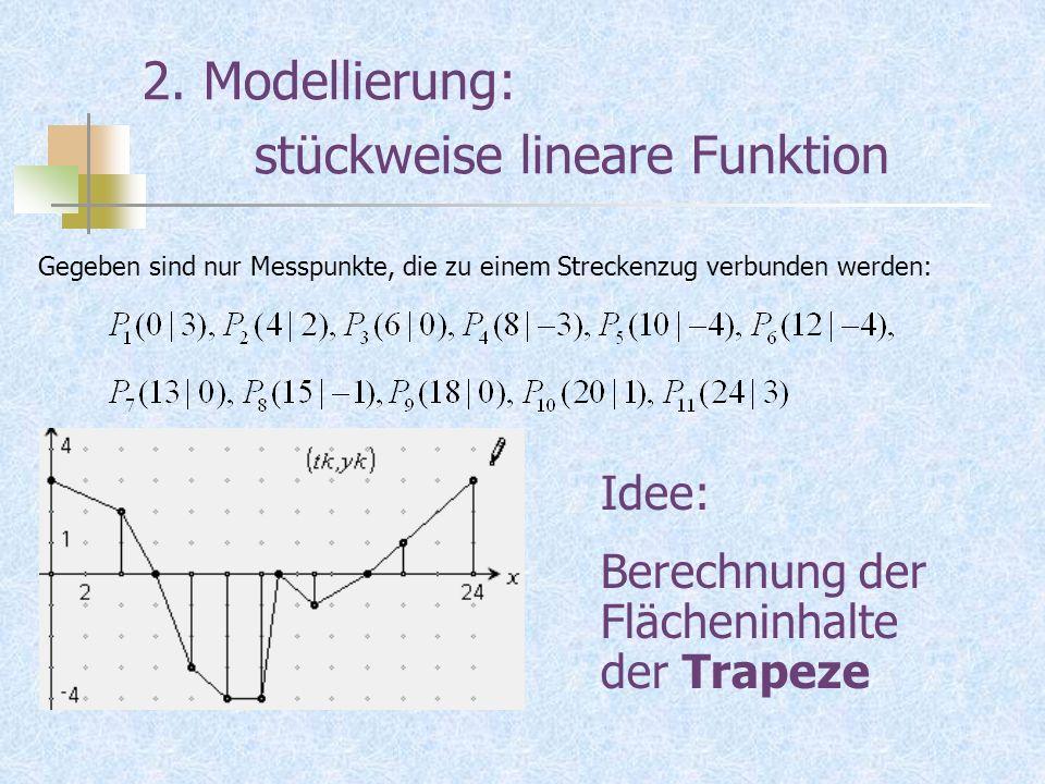 2. Modellierung: stückweise lineare Funktion