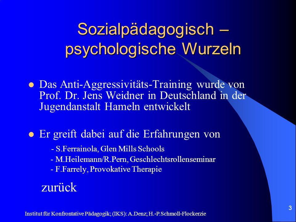 Sozialpädagogisch – psychologische Wurzeln