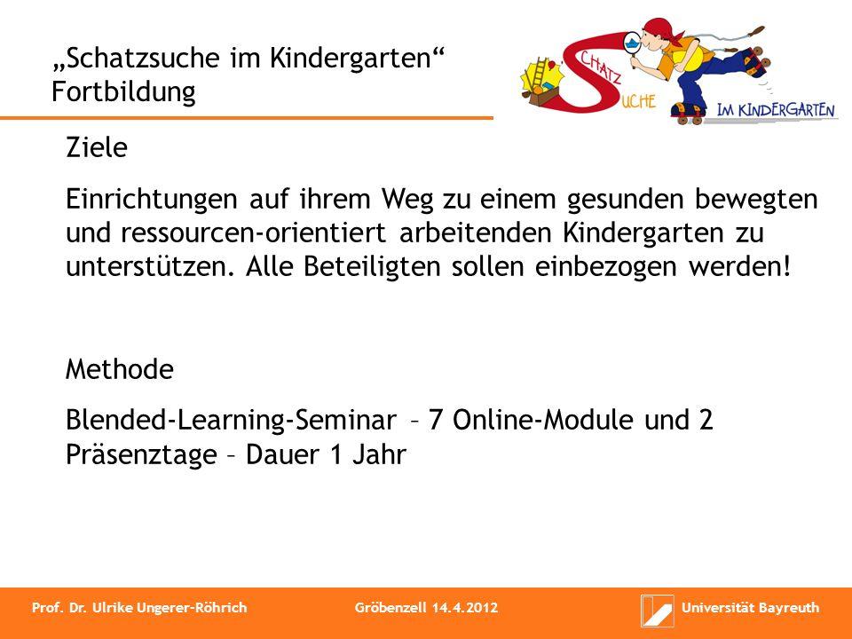 """""""Schatzsuche im Kindergarten Fortbildung"""